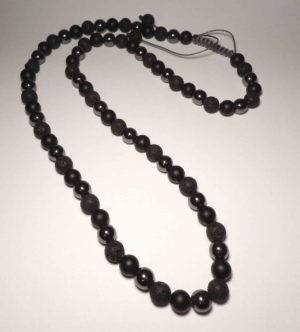 black shamballa necklace