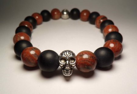 brown jasper death bracelet