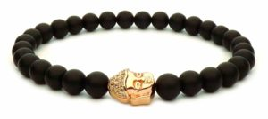 black pearl bracelet and gold buddha