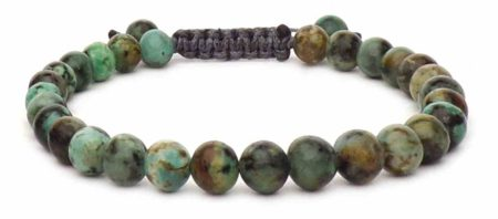 green african agate beads bracelet