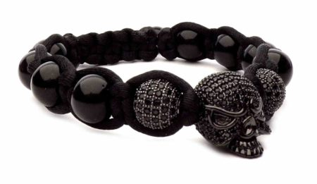 Johnny halliday black death skull bracelet