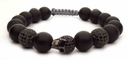 black head shamballa bracelet