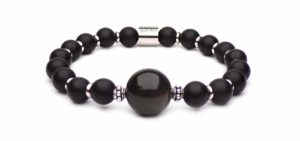 Johnny bracelet hallyday black pearls