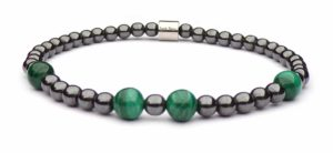 Hematite and Malachite pearl bracelet