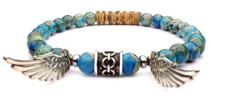 wings viking bracelet