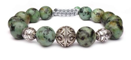 green african agate pearl bracelet