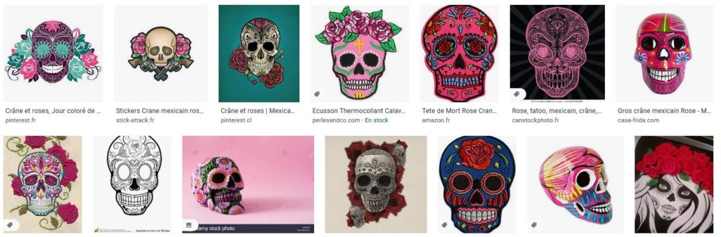 mexican skull and rose