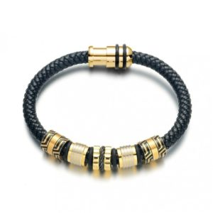 gold tube rope bracelet