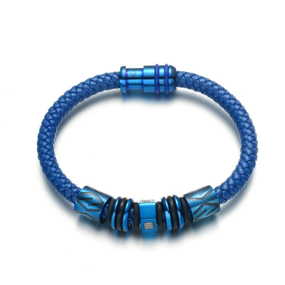 rope and blue tube bracelet