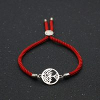 Red thread bracelet tree of life charm