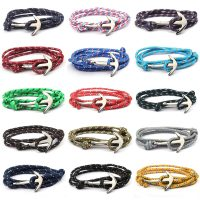 Nylon and alloy adjustable anchor Paracord bracelet