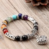 Prayer bracelets for women, 8mm, 7 chakras, balance beads, healing, heart