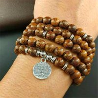 rosary beads men tib tain buddhist bracelet prayer charm Mala m saying tree of