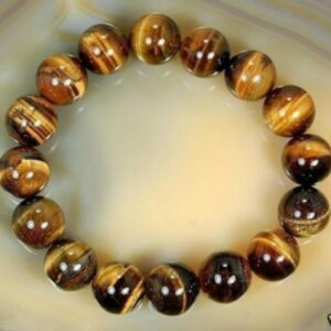 pc natural african natural roar tiger eye stone round beads bracelet