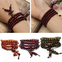 pc unisexe santal Bracelet bouddhiste m ditation pri re perle Bracelet