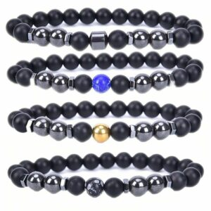 Anti Swelling Black Obsidian Energy Stone Ankle Adjustable Weight Loss Magnet Anklets For
