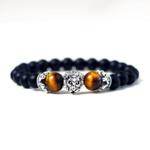 Bracelet with obsidian beads for men and women tiger eye stone jewelry
