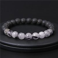 New Natural Stone Volcanic Beads Bracelet mm Black Glitter Quartz Beads Bracelet