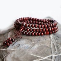 Santal  perle de pri re Mala Bracelet collier bouddhiste bouddha m ditation mm
