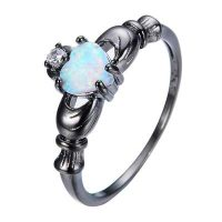 efab rainbow opaline love ring