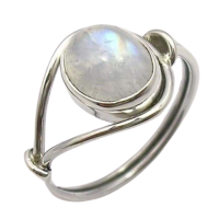 femininity and softness ring in rainbow moonstone
