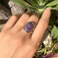 defb adjustable silver amethyst spiritual ring