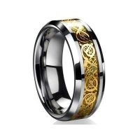 defc stainless steel viking style dragon ring