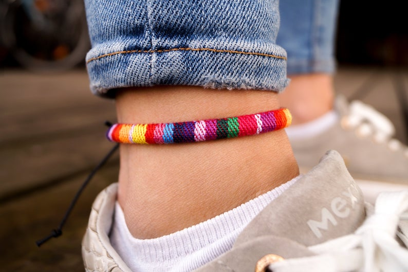 boho surfer ankle band ladies anklet ankle bracelet handmade festival beach summer jewelry friendship ribbons gift dr dfdabe