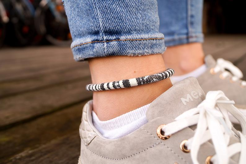 boho surfer ankle band menottes de cheville de cheville femmes handmade festival beach summer jewelry accessories friendship ribbons gift dw dbdaaf