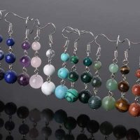 semi precious stone energy earrings available stones deedeee