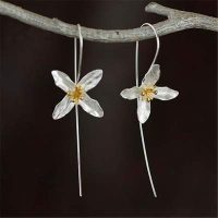 eace silver spring flower earrings