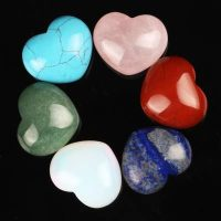 semi precious stone heart stones available ff