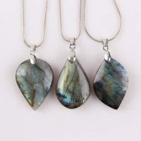 necklace and pendant harmony and protection in labradorite dedb