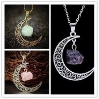 defdaafa semi precious stone moon magic necklace