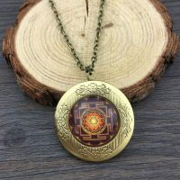 sacred sri yantra ea medallion necklace