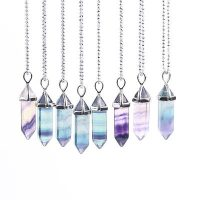 ebeb fluorite pendulum necklace