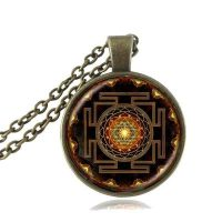 sri yantra deaecd pendant necklace