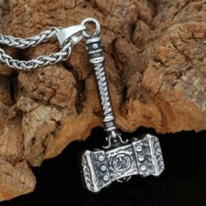 collier viking marteau forge ffee