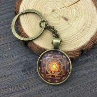 key ring sri yantra ecd