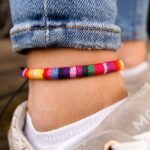 pride footband pour hommes femmes queers lgbt csd festival anklet in boho ethnic style handmade surfer jewelry impermeable a leau dick daead