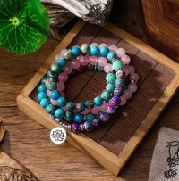 Bracelet Mala for women symbol lotus flower and others