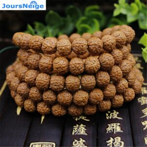 Bodhi King Kong Bracelets with Five Thin Petals, 108 Buddha Beads, Dragonscale