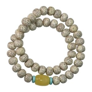 Yoga bracelet Double natural pearls