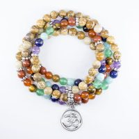 "Cheap this Bracelet Mala ""Seven chakras"" with trendy omelet 2021"