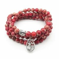 "Cheap this Bracelet Mala  Red Howlite ""energy and vitality"" trend 2021"