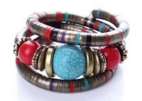 """Cheap this Tibetan bracelet """"Bronze and turquoise"""" 18,95 € 37,95 € 2021 trend"""