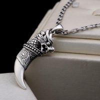 Viking necklace for men and women, jewelry, wolf teeth