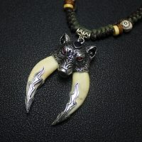 Wolf tooth necklace for men