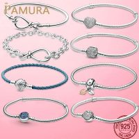 Women's 925 Sterling Silver Bracelet, 6 Different Styles, Snake and Heart Shaped Chain, Great as a Gift, Best Selling
