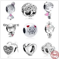Pandora original 925 silver charms for boy and girl, jewelry for women, new collection